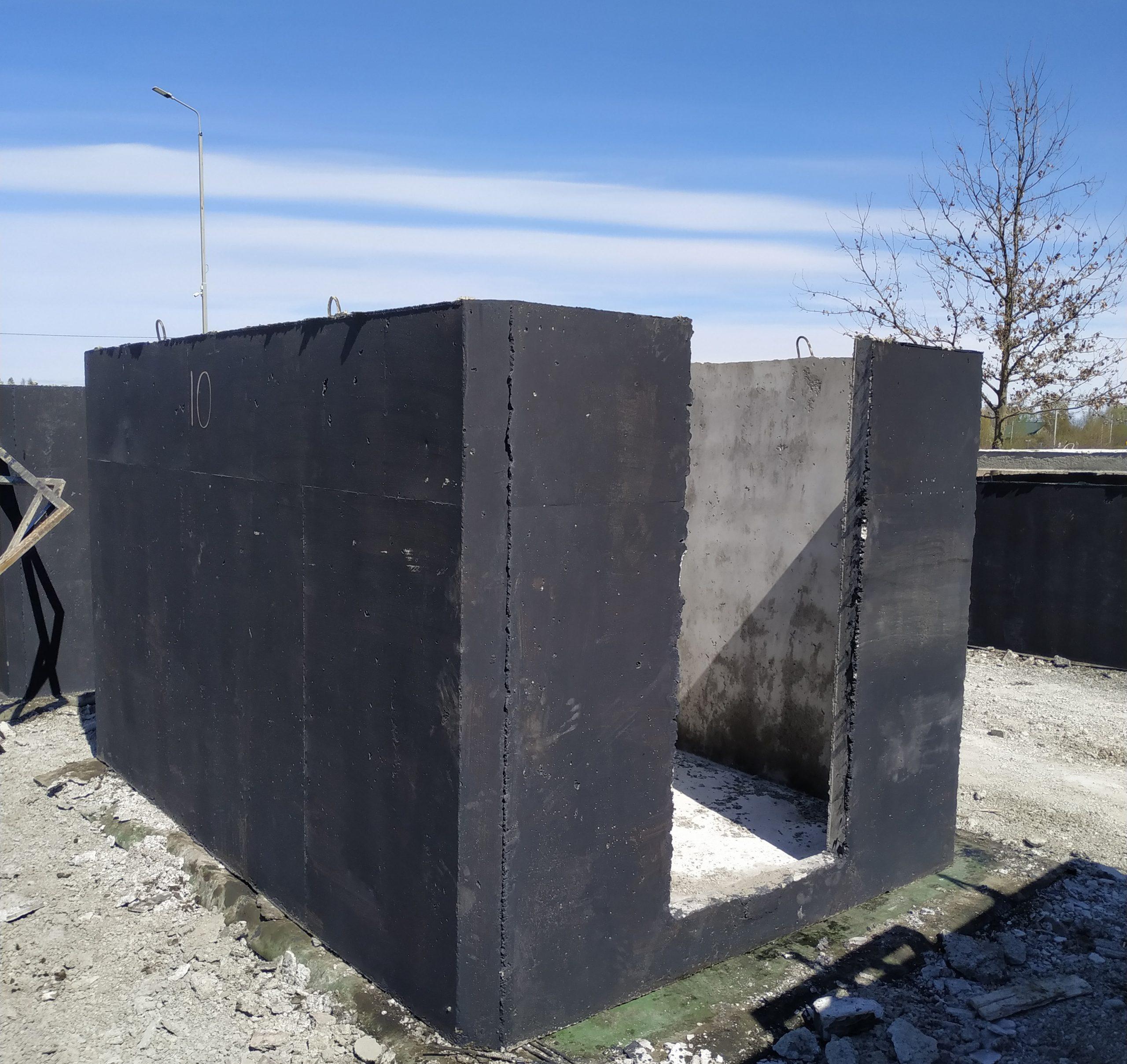 Piwniczka betonowa z płaskim sklepieniem